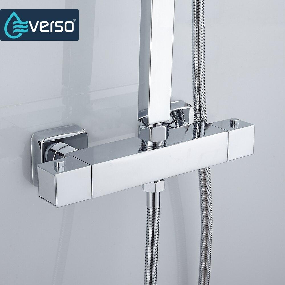 EVERSO Thermostat Misch Ventil Badezimmer Dusche Wasserhahn Set Thermostat Control Dusche Wasserhahn Dusche Mischbatterie