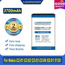 3700mAh BL-5C Batterie Pour Nokia C2 C1 1100 6600 6230 C2-06 X2-01 1108 1110 1112 1116 1200 1208 1209 n70 n71 n91 3105 N72 Batterie