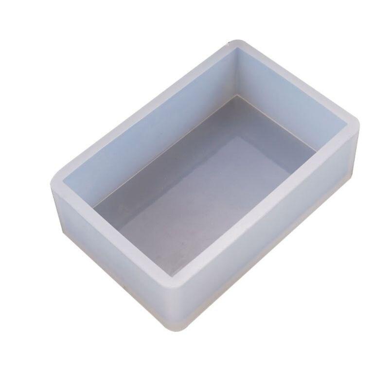DIY Crystal Epoxy Glue Mold Rectangular Box Crafts Desktop Decorations Silicone Molds T4MD