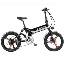 20 Inch Folding Electric Bicycle 2 Wheels Electric Bicycles Spoke Wheel Mini Lightweight Electric Bikes Adults
