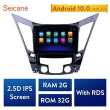 Seicane الكل في واحد أندرويد 10.0 سيارة مشغل وسائط متعددة نظام تحديد المواقع والملاحة ل 2011 2012 2013 20142015 هيونداي سوناتا i40 i45
