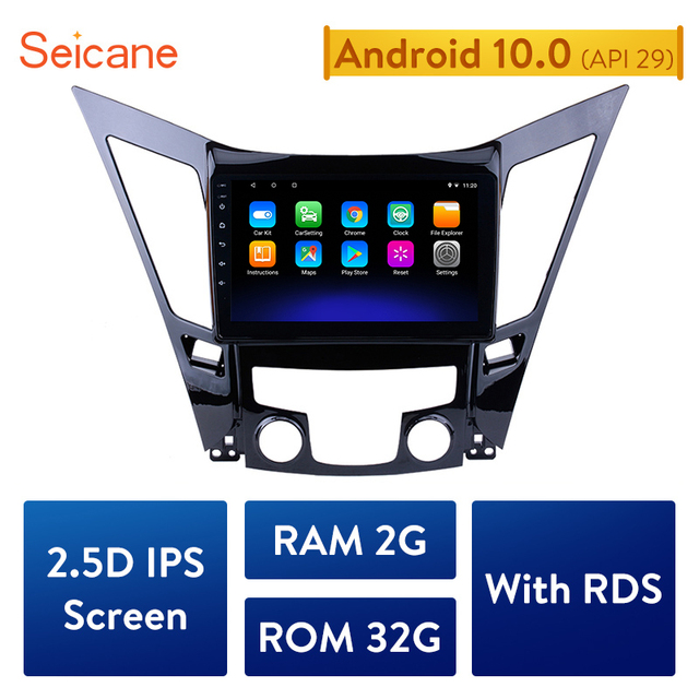 Seicane  All in One Android 10.0 Car Multimedia Player GPS Navigation system For 2011 2012 2013 20142015 HYUNDAI Sonata i40 i45