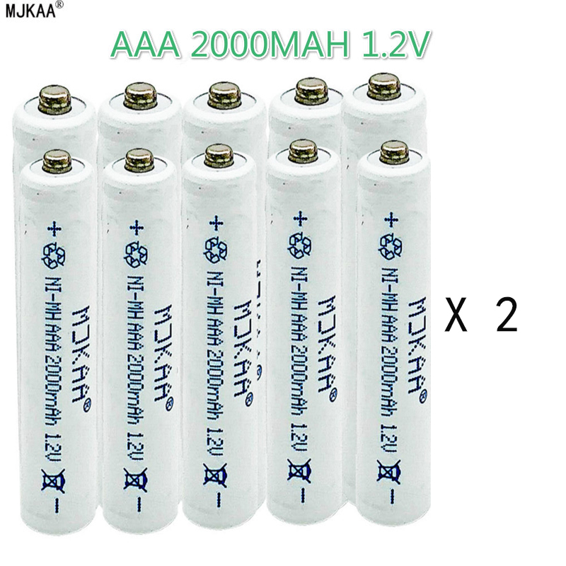 10 MJKAA NI MH - 2000 Mah Battery 1.2 V AAA Rechargeable Batteries Neutral Toy Camera