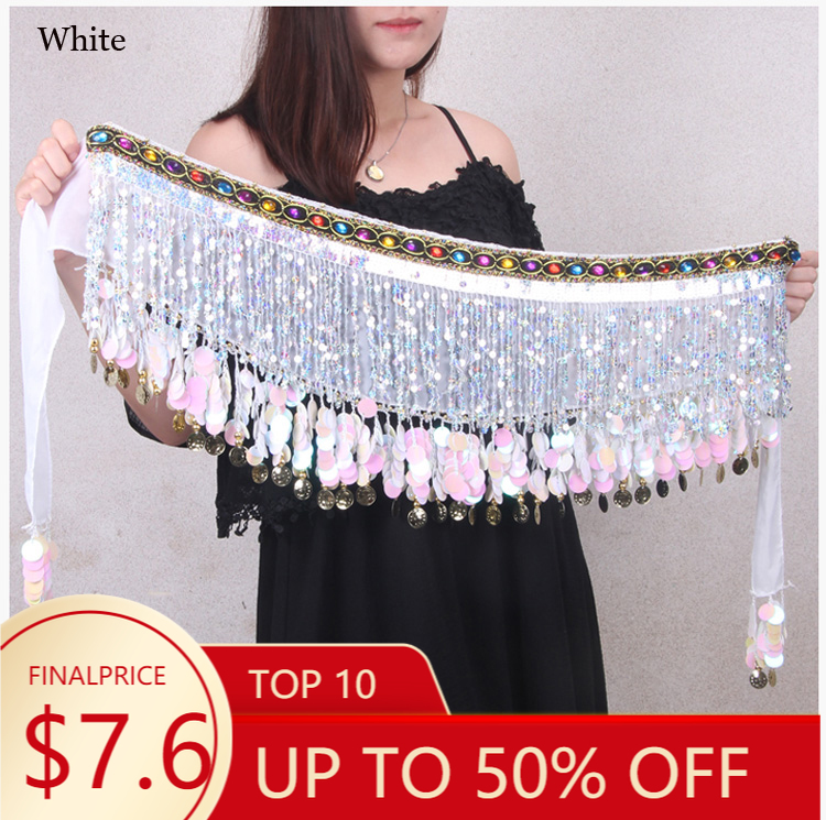 Performance-Costumes Dance-Belt Hip-Scarf Belly-Dance-Accessories Girls Wholesale Gold-Coins