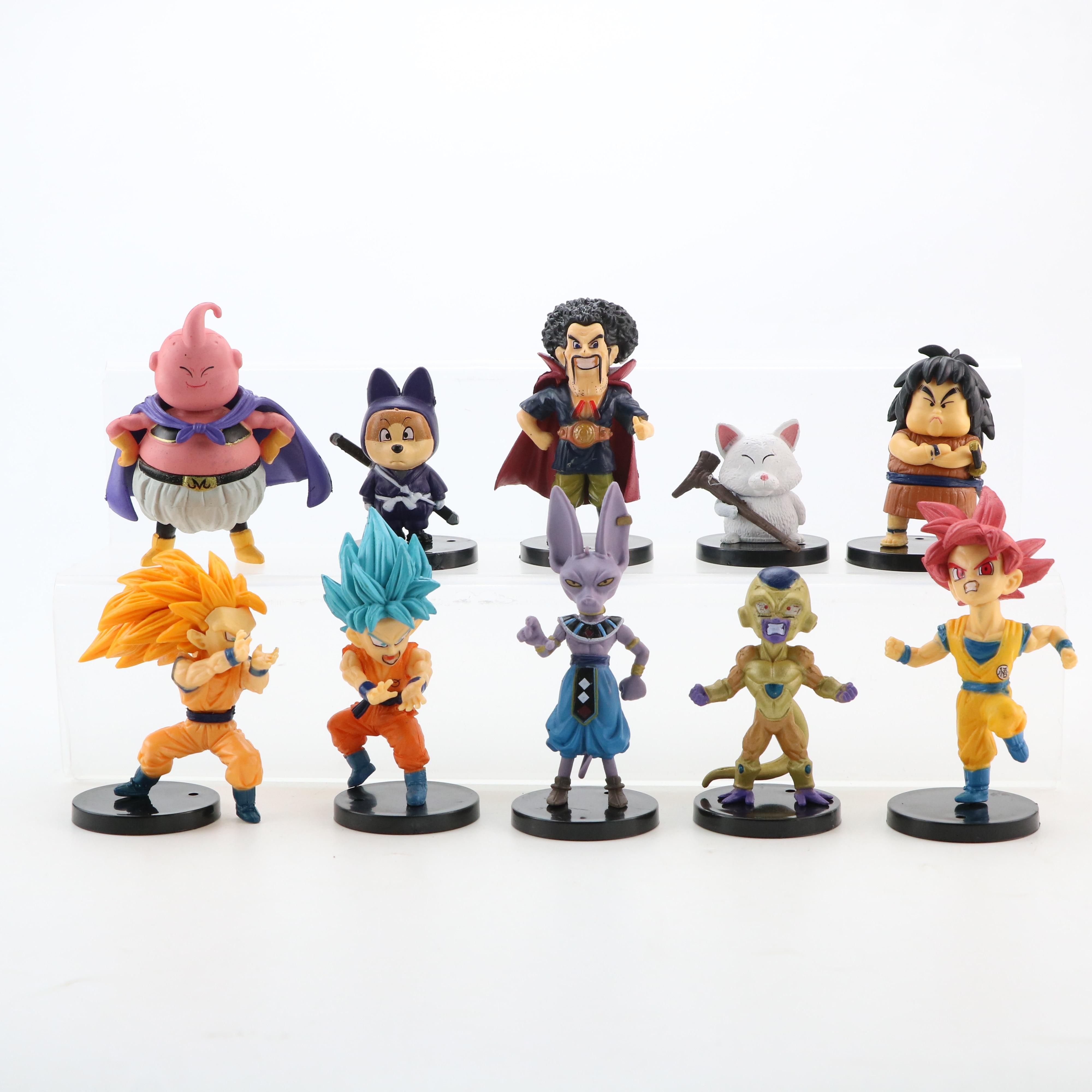 Image 4 - 10pcs/lot Dragon Ball Gogeta Vegeta Z Son Goku Gohan Broly Trunks Frieza Majin Buu Piccolo Dragonball Action Figure Set PVC ToysAction & Toy Figures   -