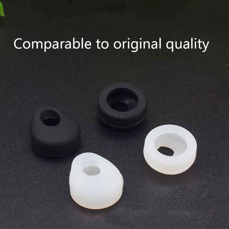 1 para końcówki słuchawek dousznych pąki silikonowe słuchawki douszne Earhooks Eartips zamiennik dla Jabra EASYGO EASYCALL bezprzewodowy zestaw słuchawkowy Bluetooth