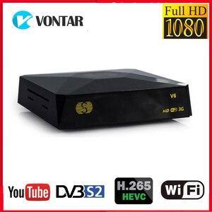 Image 1 - S V6 טלוויזיה תיבת DVB S2 קולט דיגיטלי לווין מקלט תמיכת Xtream נובה 2 1xusb אינטרנט טלוויזיה 3G ביס מפתח DVB S2 מפענח V6S