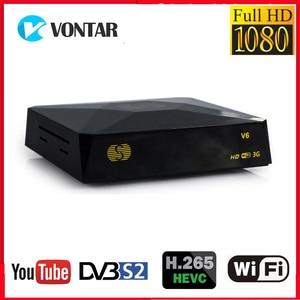 Image 1 - S V6 TV Box DVB S2 Receptor Satelite Digital Satellite Receiver Support Xtream NOVA 2xUSB WEB TV 3G Biss Key DVB S2 Decoder V6S