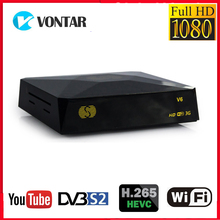 S V6 TV Box DVB S2 Receptor de satélite Digital por satélite recibidor compatible con Xtream NOVA 2xUSB WEB TV 3G Biss clave DVB S2 decodificador V6S