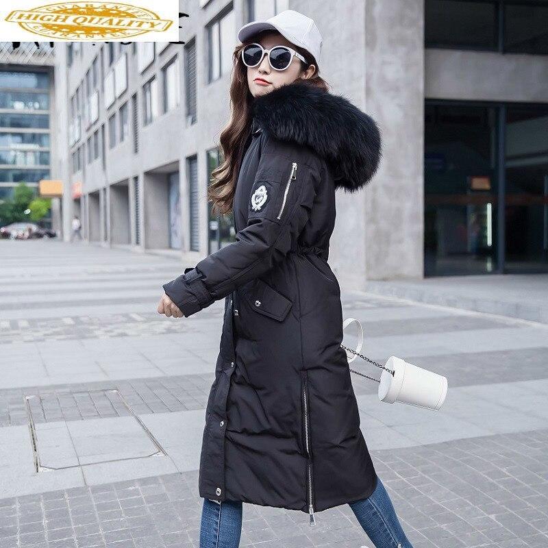 90% White Duck Down Jacket Women Korean Hooded Down Coat Puffer Jacket Winter Coat Women Chaqueta Mujer YY1373