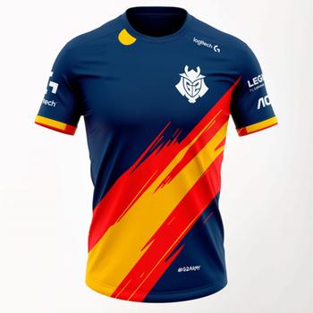 New Spain  New Team Jersey G2 National Team Jersey G2 E-sports Supporter T-shirt League Of Legends G2 E-sports Jersey Uniform