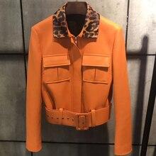 Jaqueta de couro real das senhoras mulheres jaqueta de couro jaqueta de couro genuíno