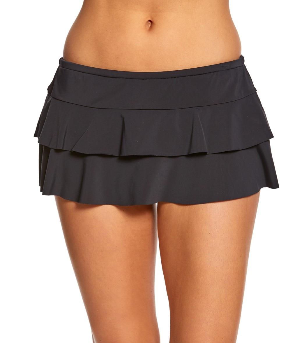 Amazon Fashion Double Layer Flounced Swimdress Beach Skirt Lining Swimming Trunks Short Skirt Bathing Suit