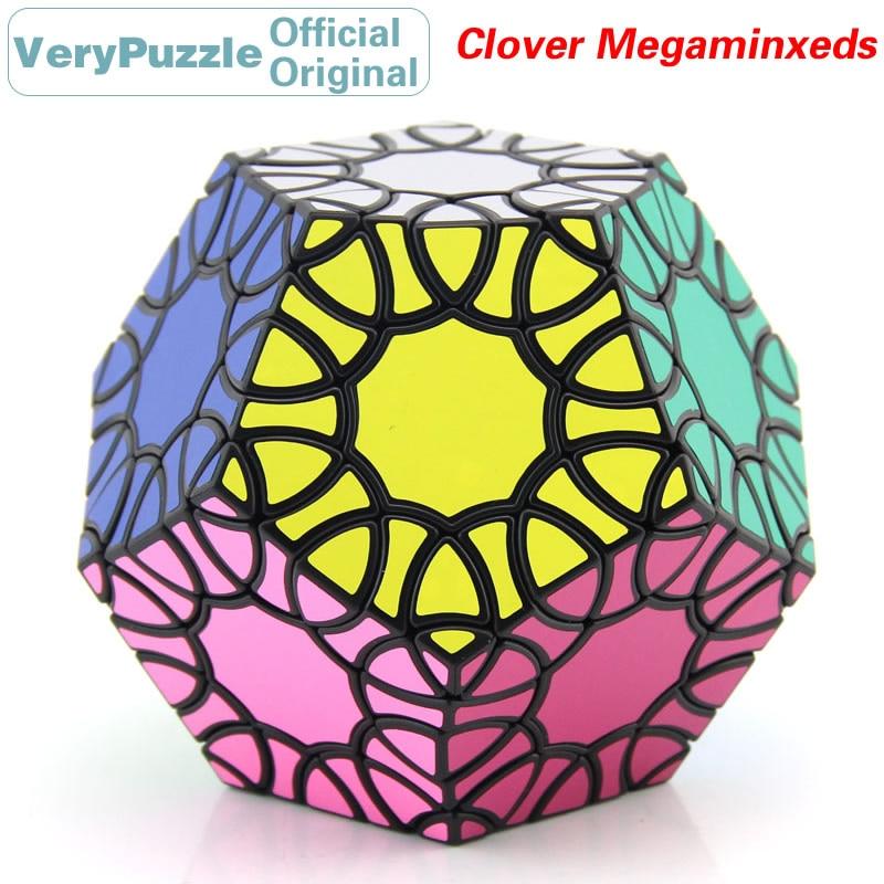 Original VeryPuzzle Megaminxeds trèfle Dodecahedron Cube magique pétale courbe vitesse Twisty Puzzle casse-tête jouets éducatifs