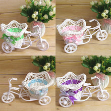 Дизайн вазы корзина для велосипеда велосипеды трицикл пентаграмма декоративный контейнер дома свадебные декорации цветок Weddding завод