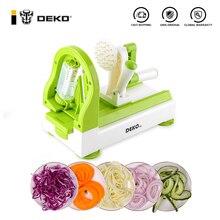 Ремешок DEKO ручной для фруктов и овощей, спиральный измельчитель моркови для картофеля, салата, лапши, спагетти, макарон, кухонные аксессуары