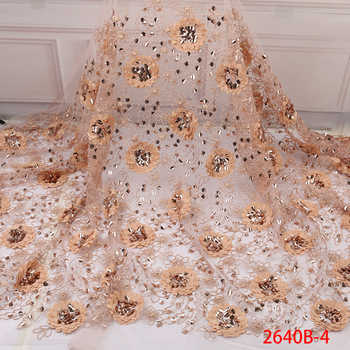 Hot Sale African Lace Fabric High Quality 3d French Nigerian Tulle Lace Fabric Sequins Fabric For African Bridal Lace 2640b - DISCOUNT ITEM  37% OFF All Category