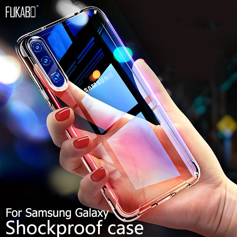 Shockproof Case For Samsung Galaxy A50 A70 A30 A20 A10 A60 A90 A80 For Samsung S8 S9 S10 Plus S10e S7 edge Note 9 8 10 Pro Cover(China)