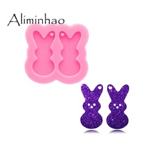 Silicone Mold Earrings Bunny Jewelry-Tool Diy-Craft Epoxy-Resin DY0874 Polymer Glossy