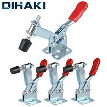 DIHAKI 1PCS 90KG Horizontal Clamp Anti-Slip Toggle Clamp Fast Locking Hand Tool Lever Fastener Vertical Fixture Quick Release metal horizontal quick release hand tool toggle clamp for fixing workpiece 60 lbs antislip covered hand tool toggle clamp