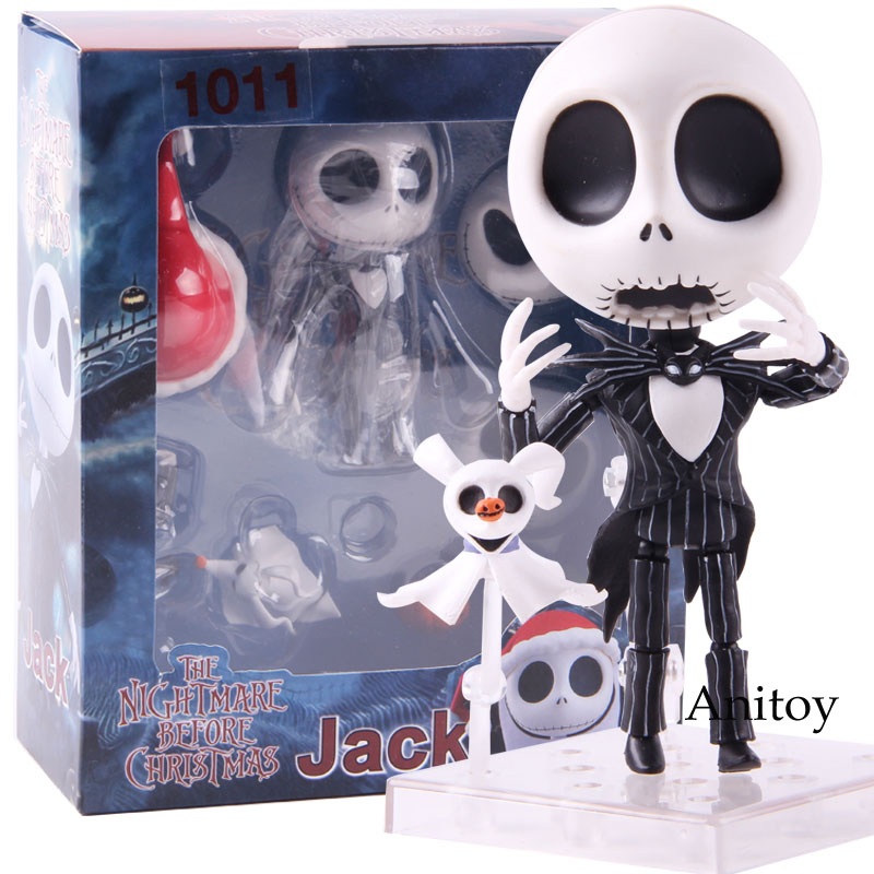 Nendoroid 1011 Jack Skellington The Nightmare Before Christmas PVC Action Figure Jack Skellington Doll Collectible Model Toy
