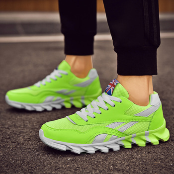 Trampki męskie zasznurowane wiosenne oddychające męskie buty do biegania wygodne nowe modne męskie buty sportowe dla dorosłych Zapatos