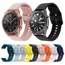 Pulseira de relógio de silicone para samsung galaxy watch 3 lte pulseira de pulso para samsung watch3 45mm 41mm ativo 2 substituir pulseira