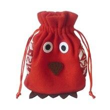 Лидер продаж, 1 шт., рождественские детские конфетные сумки, сумка, мультяшная сова, подарочная сумочка на Рождество, Детская сумка на шнурке