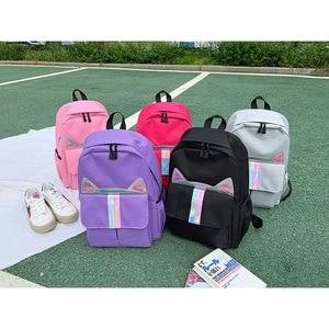 Image 4 - New Kids Backpack Girls Boy Children Teenagers Student School Backpacks For Girl Cute Cat Ear Backpack Schoolbag Cartable Enfant