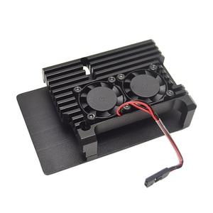 Image 3 - Raspberry Pi 4 B Case met Dual Fan, armor Aluminium Passieve Koeling Case Compatibel met Raspberry Pi 4 Model B Alleen