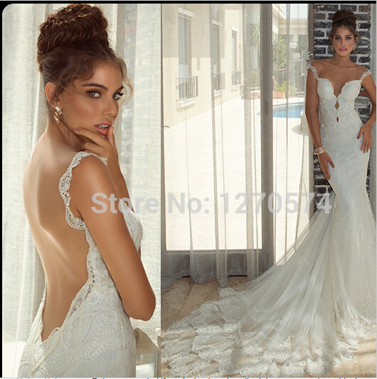 Custom-made Romantic Vestido De Noiva 2018 New Fashionable Sexy Backless Bridal Gown Long Mermaid Mother Of The Bride Dresses
