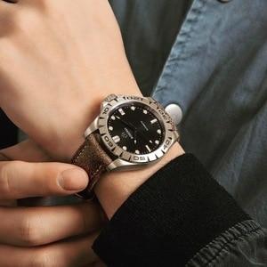 Image 3 - טיטניום מקרה 2020 יוקרה גברים שעונים של אוטומטי מכאני עמיד למים לוח שנה תאריך זוהר שעון שעון גברים Relogio Masculino