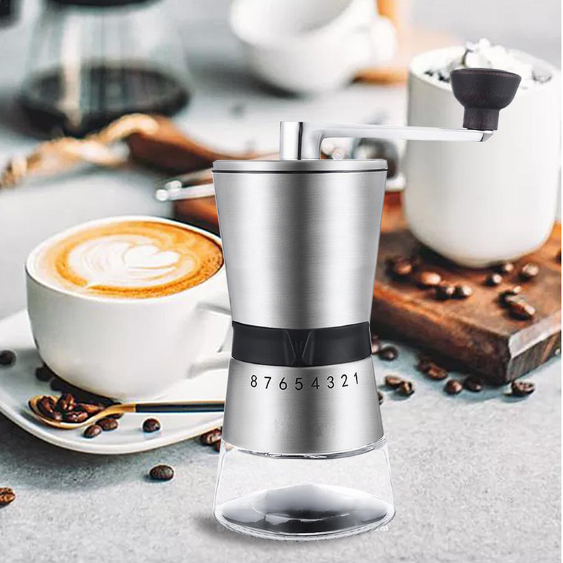 High Quality Stainless Steel Hand Crank Grinding Conical Ceramic Coffee Grinder Manual Coffee Grinder Mill With Ceramic Cutters