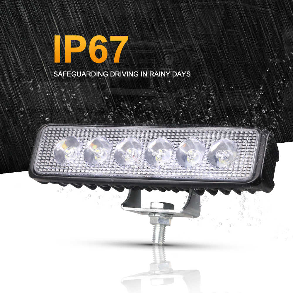 "Nlpearl 6 ""18 5w led ランプアセンブリ白黄色オフロード led フォグライト 12/24 v 防水 led suv atv"