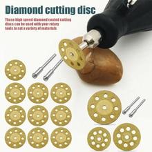 10 Pcs Diamond Cutting Disc with 2 Arbor Shafts for Gemstones Glass Concrete Brick Disc-30