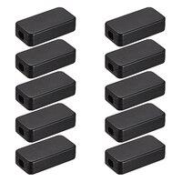 Uxcell 2x67mm eletrônico abs plástico diy caixa de junção gabinete projeto caso cinza 40x20x10.5 10 pçs