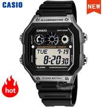 Оптическими зумом Casio часы взрыв часы для мужчин комплект Элитный бренд светодиодный военные цифровые часы спортивные Водонепроницаемый к...