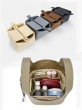 Fits para picotin 18 22 26 insert bags organizador balde de maquiagem luxo bolsa portátil cosméticos base shaper para mulher bolsa