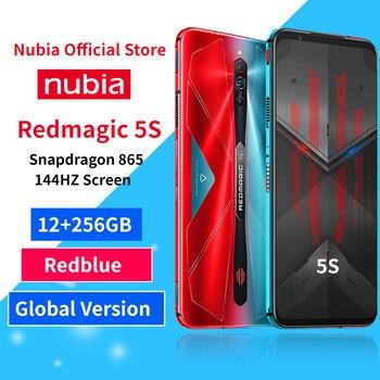 Перейти на Алиэкспресс и купить Оптовая торговля глобальная версия Nubia Red magic 5S игровой смартфон 12 Гб ОЗУ 256 Гб ПЗУ Redmagic 5S Snapdragon 865 NFC 6,65дюйм