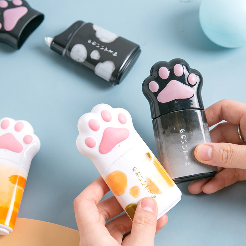 Kawaii Big Cat Claw Shape Cute Practical Correction Tape White Out Corrector Diary Stationery School Supply
