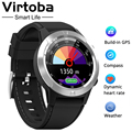 Virtoba M4 Smart Horloge Mannen Kompas GPS Smartwatch Multi-taal IP67 Waterdichte Hartslagmeter Klok Call Bericht Herinnering