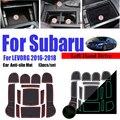 Для Subaru LECORG 2016-2018 13 шт./компл. Противоскользящий слот для ворот коврик для ворот Коврик для двери резиновый коврик для чашки автомобиля коври...
