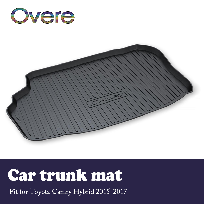 Overe 1Set Car Cargo rear trunk mat For Toyota Camry Hybrid 2015 2016 2017 Styling Anti