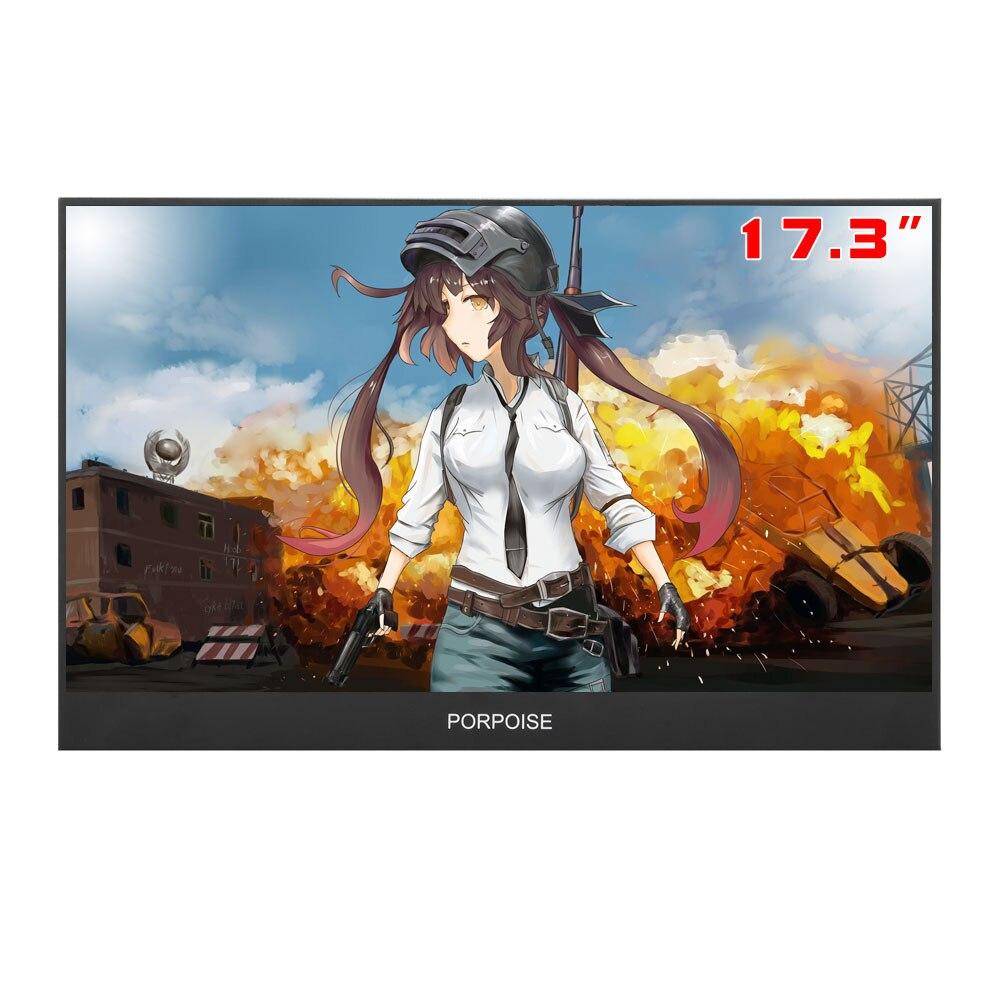 17.3-polegada monitor portátil lado estreito de extensão computador 1080 p