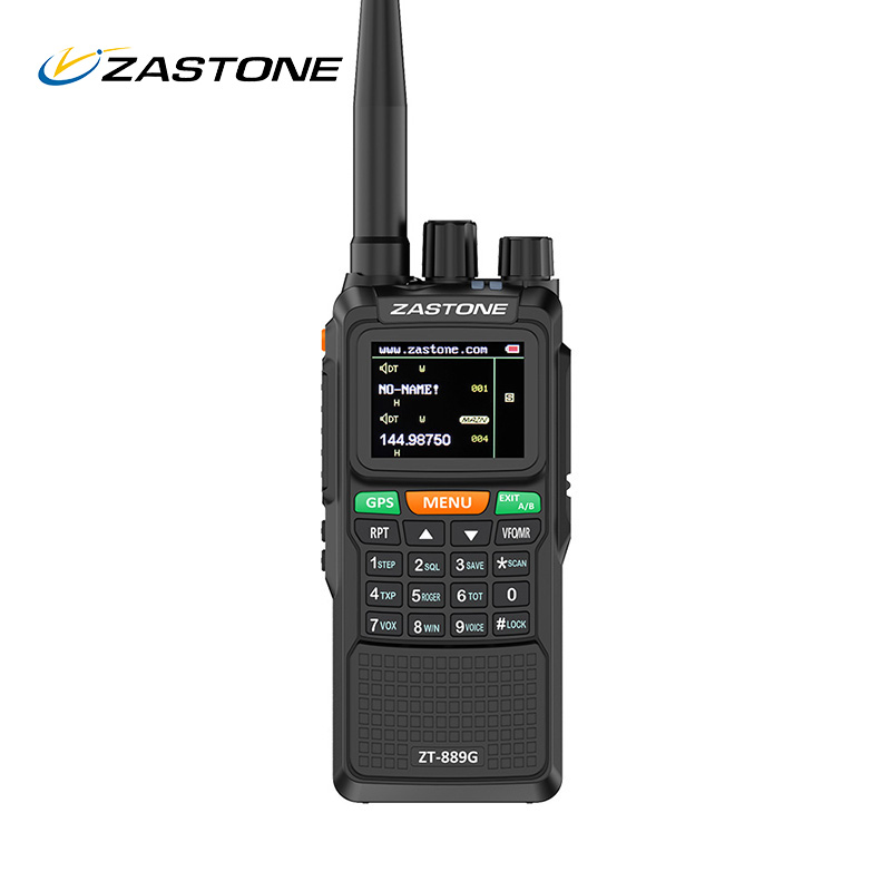 Zastone 889G GPS Walkie Talkie 10W 999CH 3000mAh UHF 400-520 / VHF136-174MHz Ham CB Radio HF Transceiver For Explore Hunting