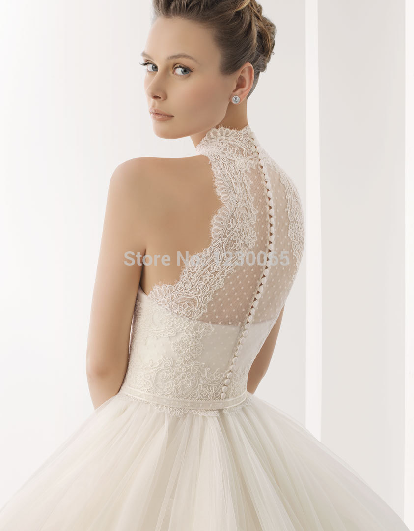 free shipping romantic high neck 2018 design vestido de noiva casamento sexy lace ball bridal gown mother of the bride dresses