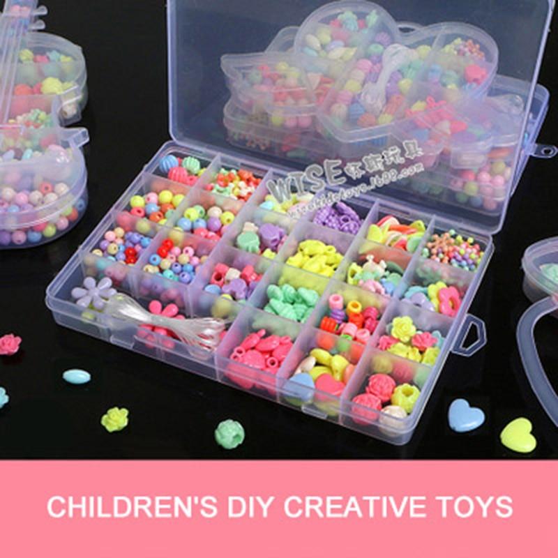 Children'S Fun Amblyopia Training Beaded Toys Parent-Child Interactive Puzzle Handmade DIY Beaded Necklace Jewelry