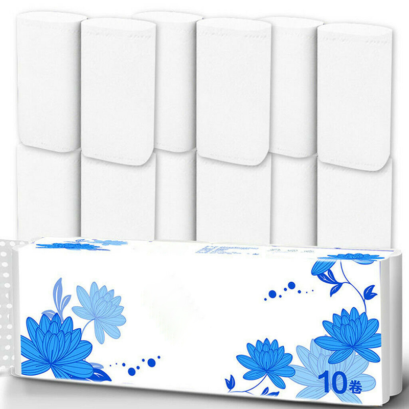 12 Roll Strong Soft 4-Ply Toilet Paper Bath Tissue Bulk Roll Skin-friendly MH88