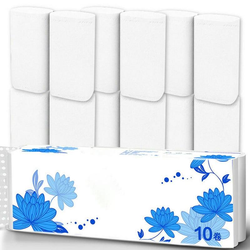 12 Roll Strong Soft 4-Ply Toilet Paper Bath Tissue Bulk Roll Skin-friendly MH88