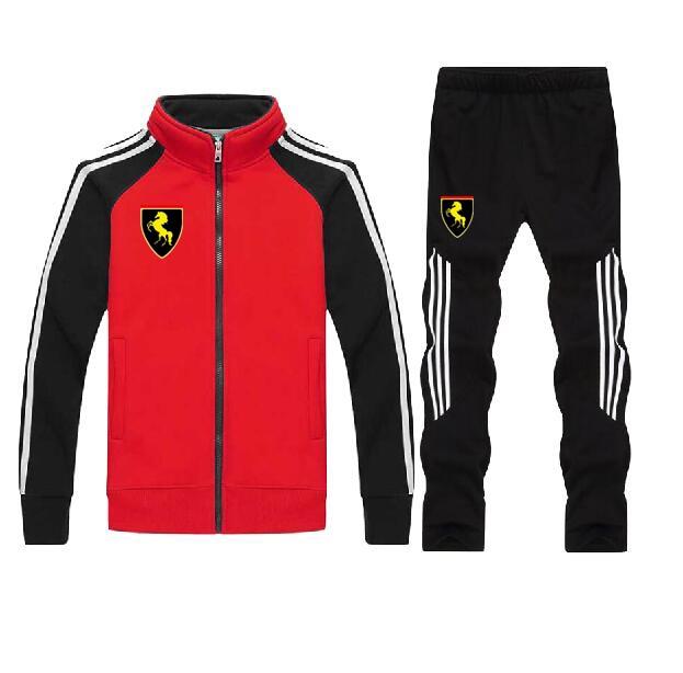 Men's Gym TrackSuit Sport Jacket Suit Set Trousers Jogging Bottom Top Sweatsuits Blazer Train Track Suit